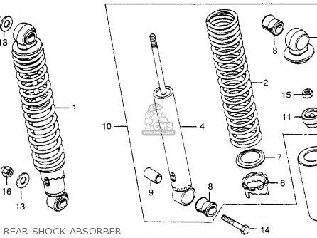 Honda Cx500 1979 z Usa Rear Shock Absorber