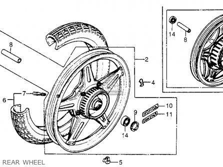 Honda Cx500 1979 z Usa Rear Wheel