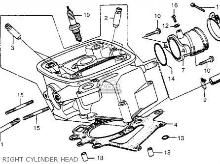 Honda Cx500 1979 z Usa Right Cylinder Head