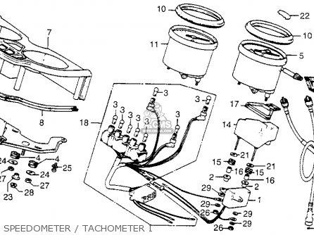 Honda Cx500 1979 z Usa Speedometer   Tachometer I