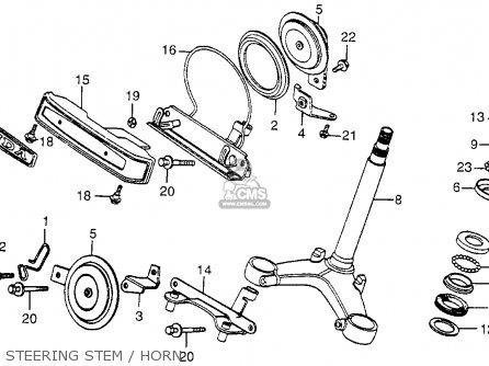 Honda Cx500 1979 z Usa Steering Stem   Horn