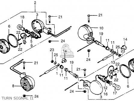 Honda Cx500 1979 z Usa Turn Signal Ii