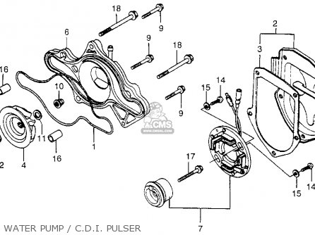 Honda Cx500 1979 z Usa Water Pump   C d i  Pulser