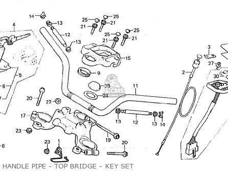 Honda Cx500 1980 a Australia Handle Pipe - Top Bridge - Key Set