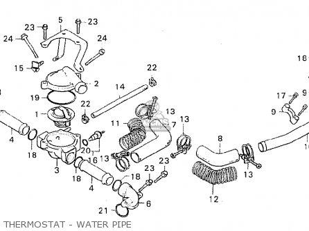 Honda Cx500 1980 a Australia Thermostat - Water Pipe