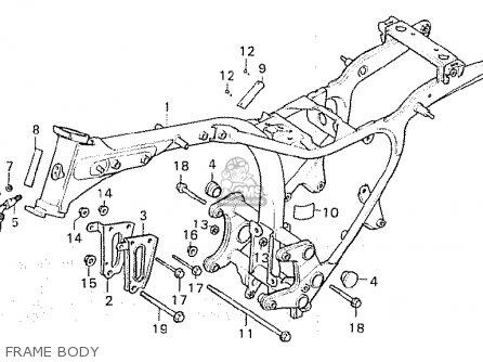 Honda Cx500 1980 a England Frame Body