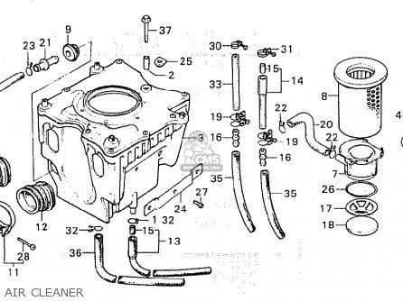 Honda Cx500 1980 a European Direct Sales Air Cleaner