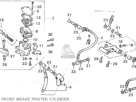 Honda Cx500 1980 a European Direct Sales Front Brake Master Cylinder