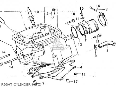 Honda Cx500 1980 a European Direct Sales Right Cylinder Head