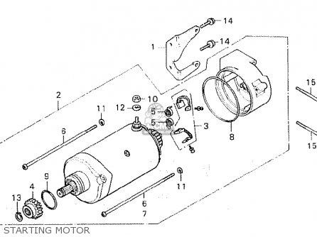 Honda Cx500 1980 a European Direct Sales Starting Motor