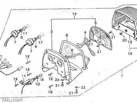 Honda Cx500 1980 a European Direct Sales Taillight