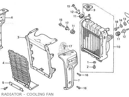 RADIATOR - COOLING FAN - CX500 1980 (A) EUROPEAN DIRECT SALES