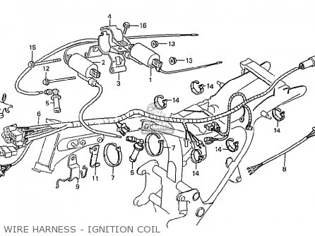 Honda Cx500 1980 a France Wire Harness - Ignition Coil