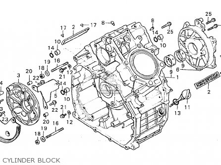 Honda Cx500 1980 a General Export   Kph Cylinder Block