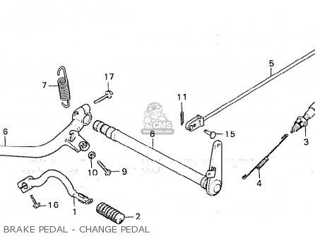 Honda Cx500 1980 a General Export   Mph Brake Pedal - Change Pedal
