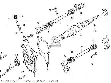Honda Cx500 1980 a General Export   Mph Camshaft - Lower Rocker Arm