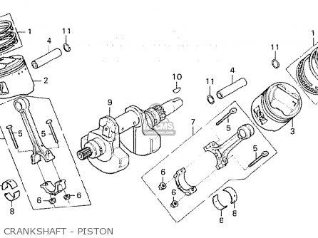 Honda Cx500 1980 a General Export   Mph Crankshaft - Piston
