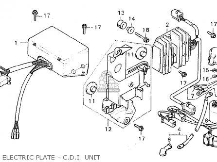 Honda Cx500 1980 a General Export   Mph Electric Plate - C d i  Unit