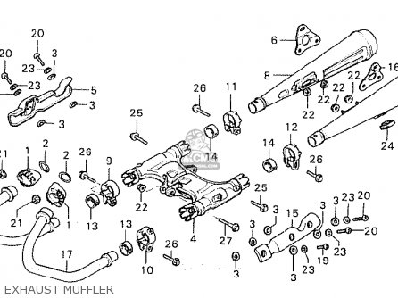 Honda Cx500 1980 a General Export   Mph Exhaust Muffler