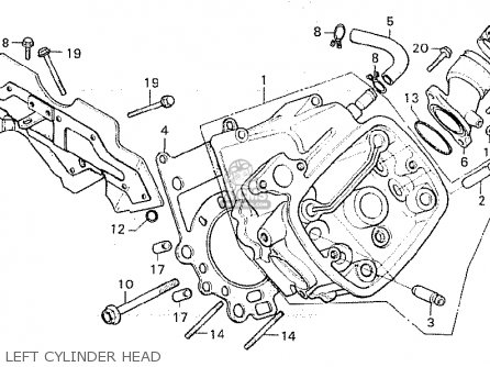 Honda Cx500 1980 a General Export   Mph Left Cylinder Head