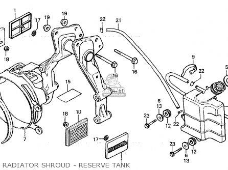 Honda Cx500 1980 a General Export   Mph Radiator Shroud - Reserve Tank