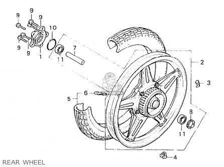 Honda Cx500 1980 a General Export   Mph Rear Wheel