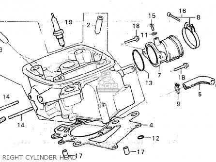 Honda Cx500 1980 a General Export   Mph Right Cylinder Head
