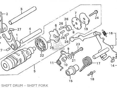 Honda Cx500 1980 a General Export   Mph Shift Drum - Shift Fork