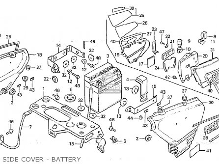 Honda Cx500 1980 a General Export   Mph Side Cover - Battery