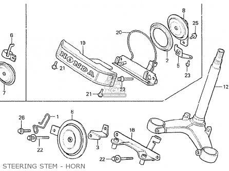 Honda Cx500 1980 a General Export   Mph Steering Stem - Horn