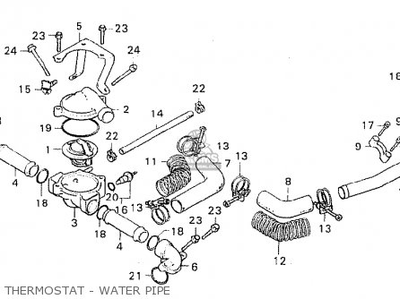 Honda Cx500 1980 a General Export   Mph Thermostat - Water Pipe