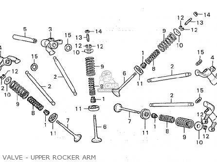 Honda Cx500 1980 a General Export   Mph Valve - Upper Rocker Arm