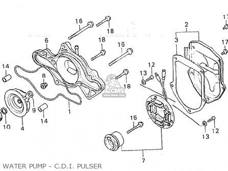Honda Cx500 1980 a General Export   Mph Water Pump - C d i  Pulser