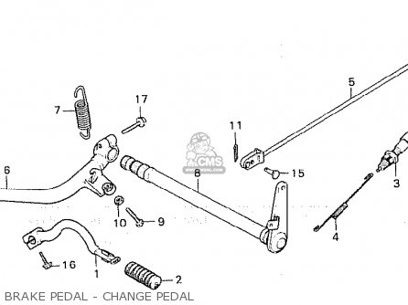 Honda Cx500 1980 a Germany   Full Power Brake Pedal - Change Pedal