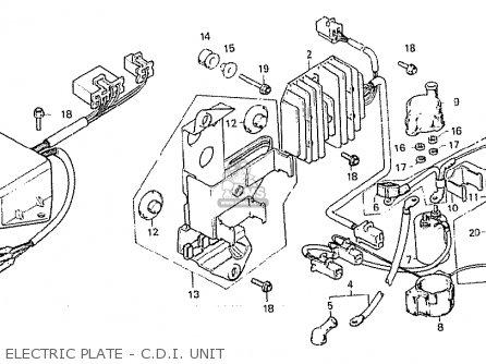 Honda Cx500 1981 b Australia Electric Plate - C d i  Unit