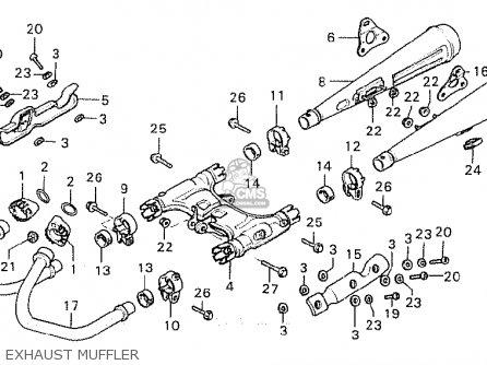 Honda Cx500 1981 b Australia Exhaust Muffler