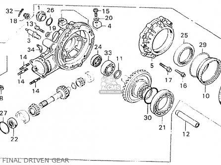 Honda Cx500 1981 b Australia Final Driven Gear