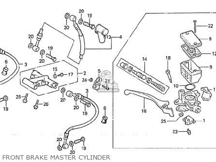 Honda Cx500 1981 b Australia Front Brake Master Cylinder