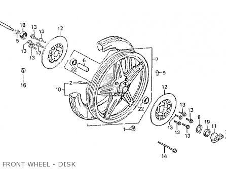 Honda Cx500 1981 b Australia Front Wheel - Disk