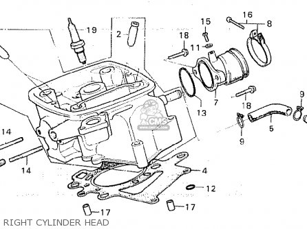 Honda Cx500 1981 b Australia Right Cylinder Head