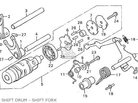 Honda Cx500 1981 b Australia Shift Drum - Shift Fork