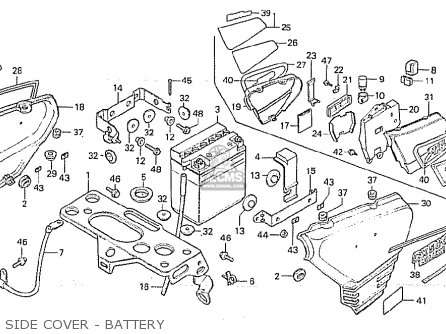 Honda Cx500 1981 b England Side Cover - Battery