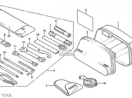 Honda Cx500 1981 b European Direct Sales Tool