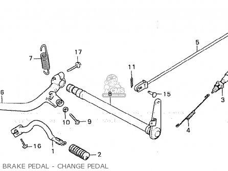 Honda Cx500 1981 b General Export   Kph Brake Pedal - Change Pedal