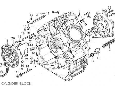 Honda Cx500 1981 b General Export   Kph Cylinder Block