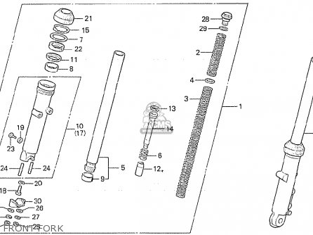 Honda Cx500 1981 b General Export   Kph Front Fork