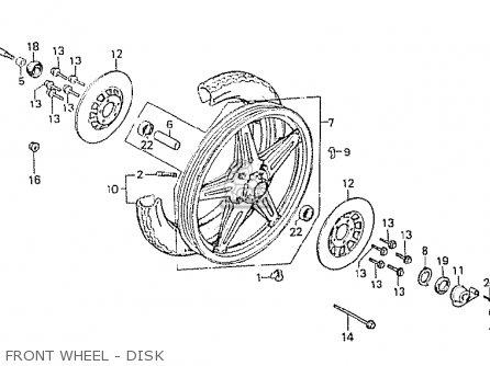 Honda Cx500 1981 b General Export   Kph Front Wheel - Disk