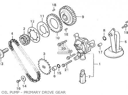 Honda Cx500 1981 b General Export   Kph Oil Pump - Primary Drive Gear