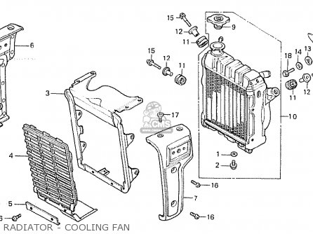 Honda Cx500 1981 b General Export   Kph Radiator - Cooling Fan