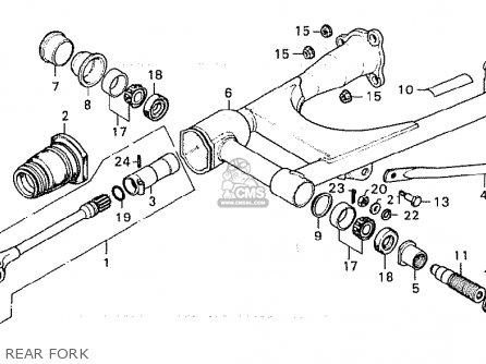 Honda Cx500 1981 b General Export   Kph Rear Fork